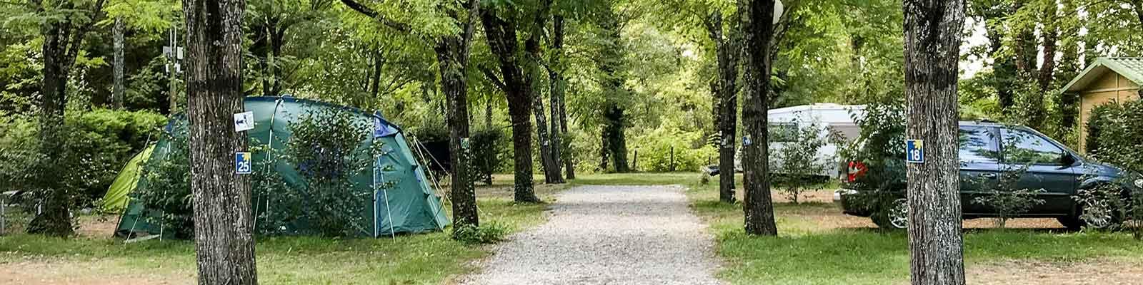Accès camping Plan d'eau Ardèche