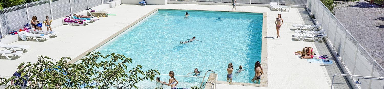 piscine camping plan d'eau ardèche